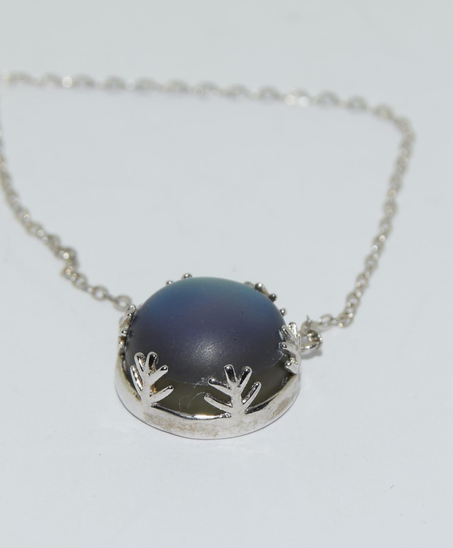 Colourful Mystic Moonstone 925 silver pendant.