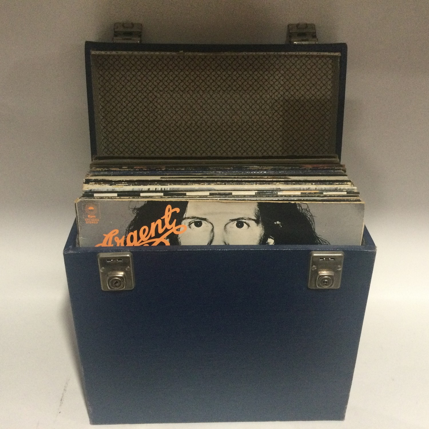 VARIOUS ROCK RELATED ALBUMS IN CARRY CASE. This box contains albums from artist?s to include -