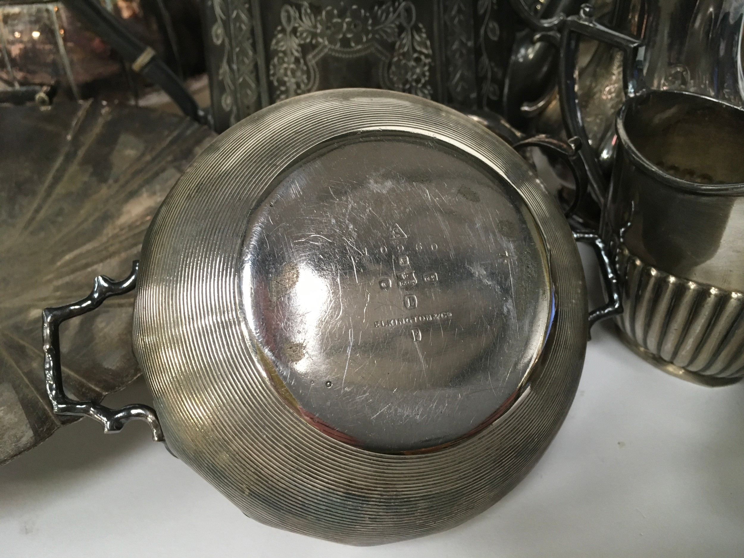 Large quantity of silver plated items - Image 3 of 5