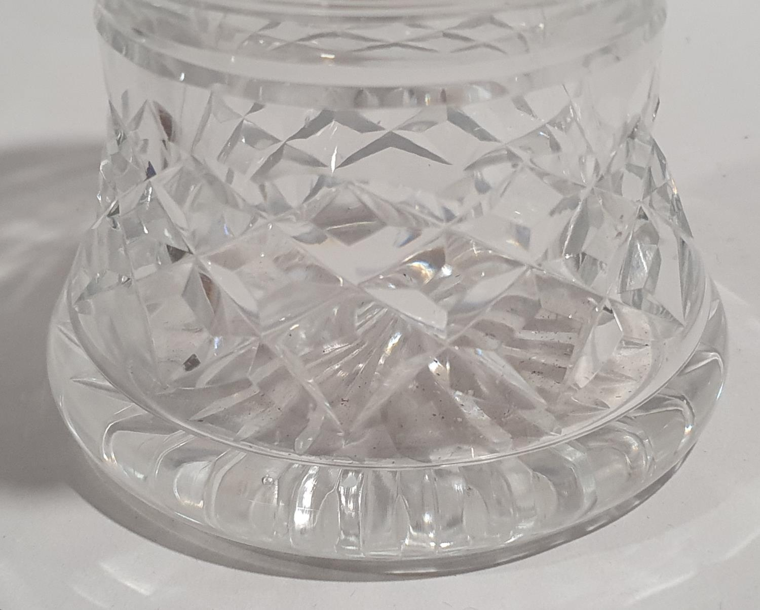 Collection of eight small silver spoons together with a silver rimmed crystal glass vase. - Image 8 of 8