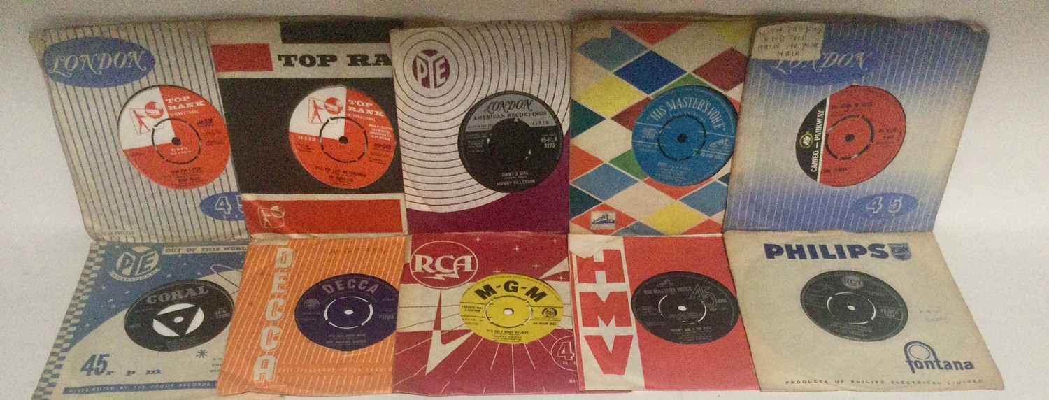 """Collection of 7"""" vinyl singles. Mainly from the 1960's to include artist's - Ricky Nelson - Them - - Image 2 of 3"""
