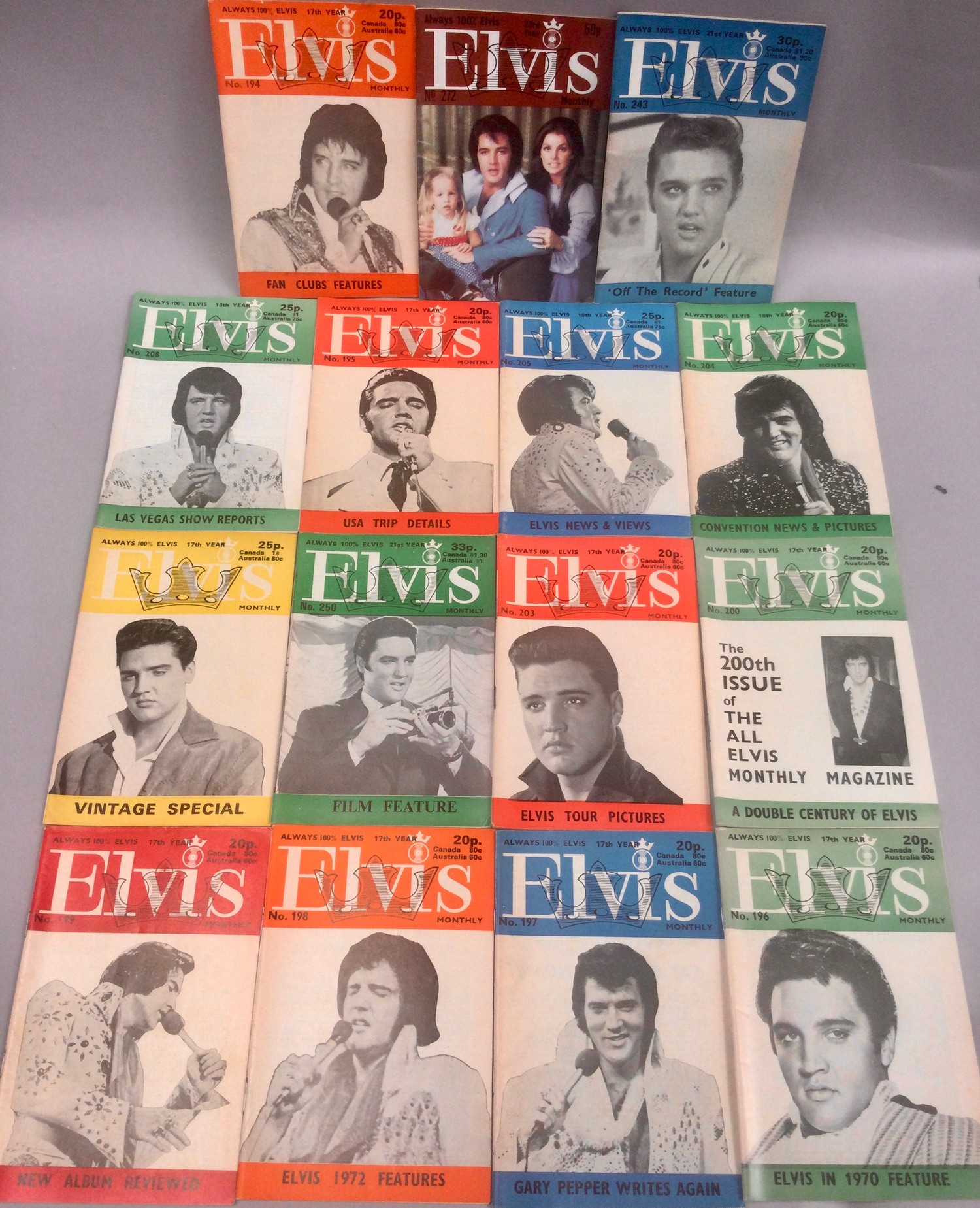 ELVIS PRESLEY COLLECTION OF FAN MAGAZINES. 13 copies of Elvis Mail mags - 27 copies of Elvis - Image 2 of 4