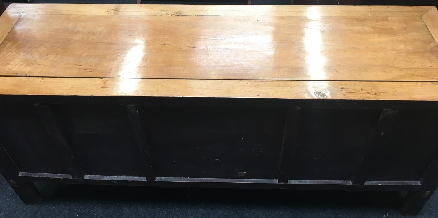Chinese storage unit with compartments 141x58x44cm. - Image 7 of 7