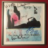 PETER DOHERTY and the PUTA MADRAS SIGNED / AUTOGRAPHED ARTWORK. Rare framed hand signed and hand