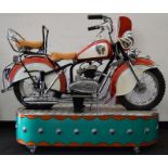 Lenaerts Indian Motorcycle Arcade Ride fully restored 1950 child's ride. Made by Edwin Hall & Co