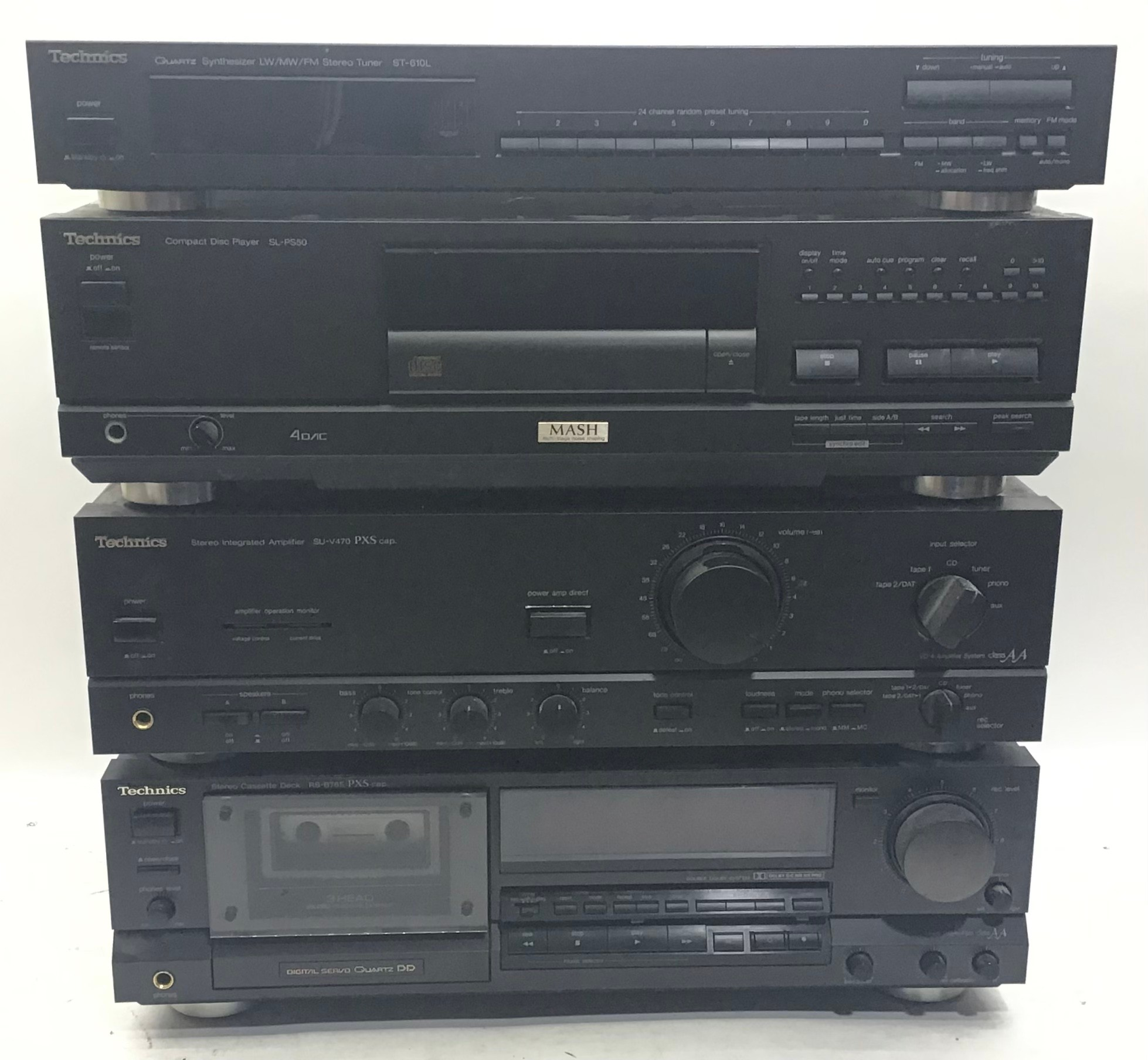 TECHNICS HIFI SEPERATE SYSTEM. To include SUV470 amplifier - Compact disc SLPS50 - Tuner ST610L