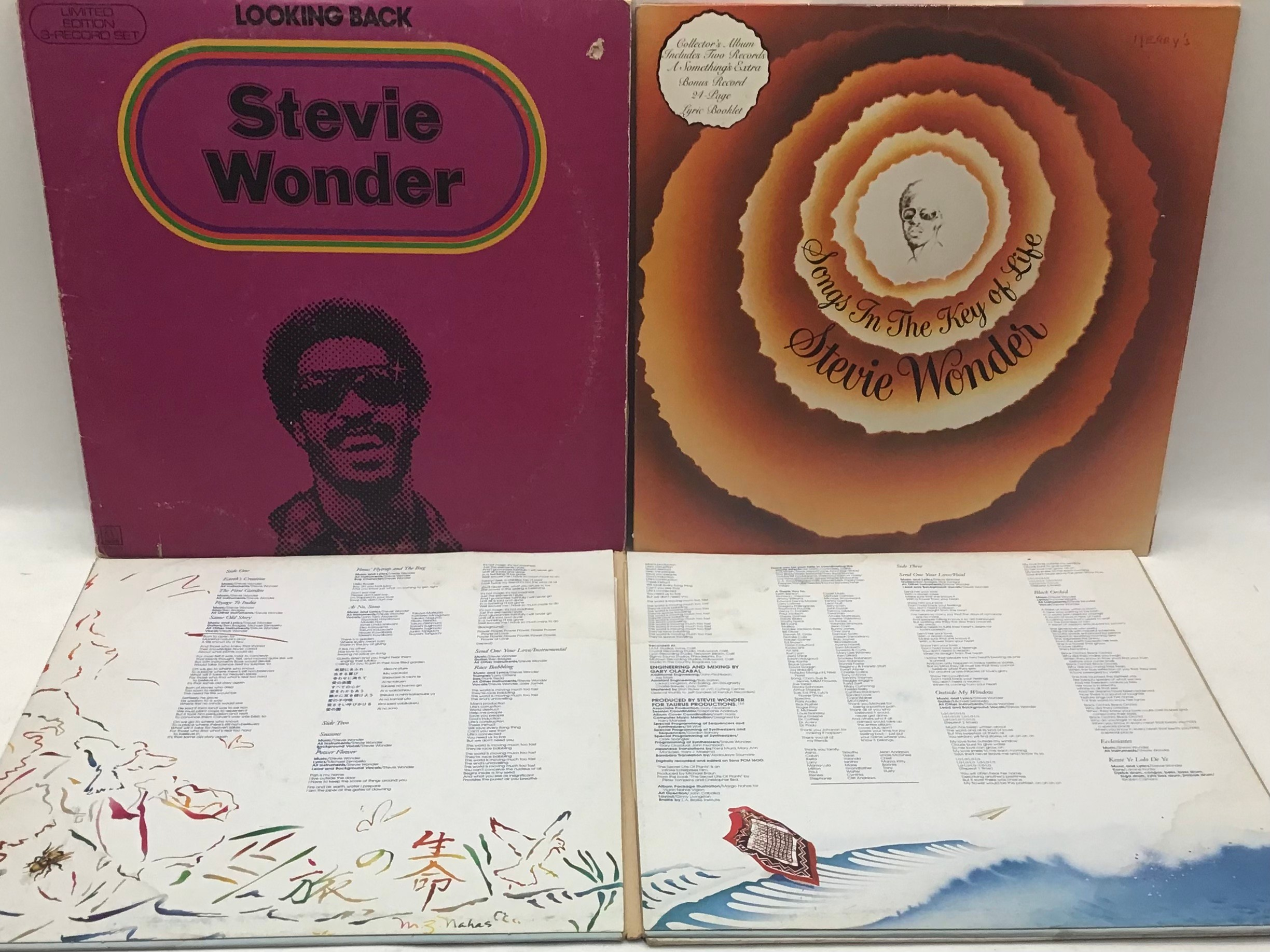 STEVIE WONDER VINYL LP RECORDS X 7. Found here in VG+ conditions with a demo copy of ?Where I?m - Image 4 of 5