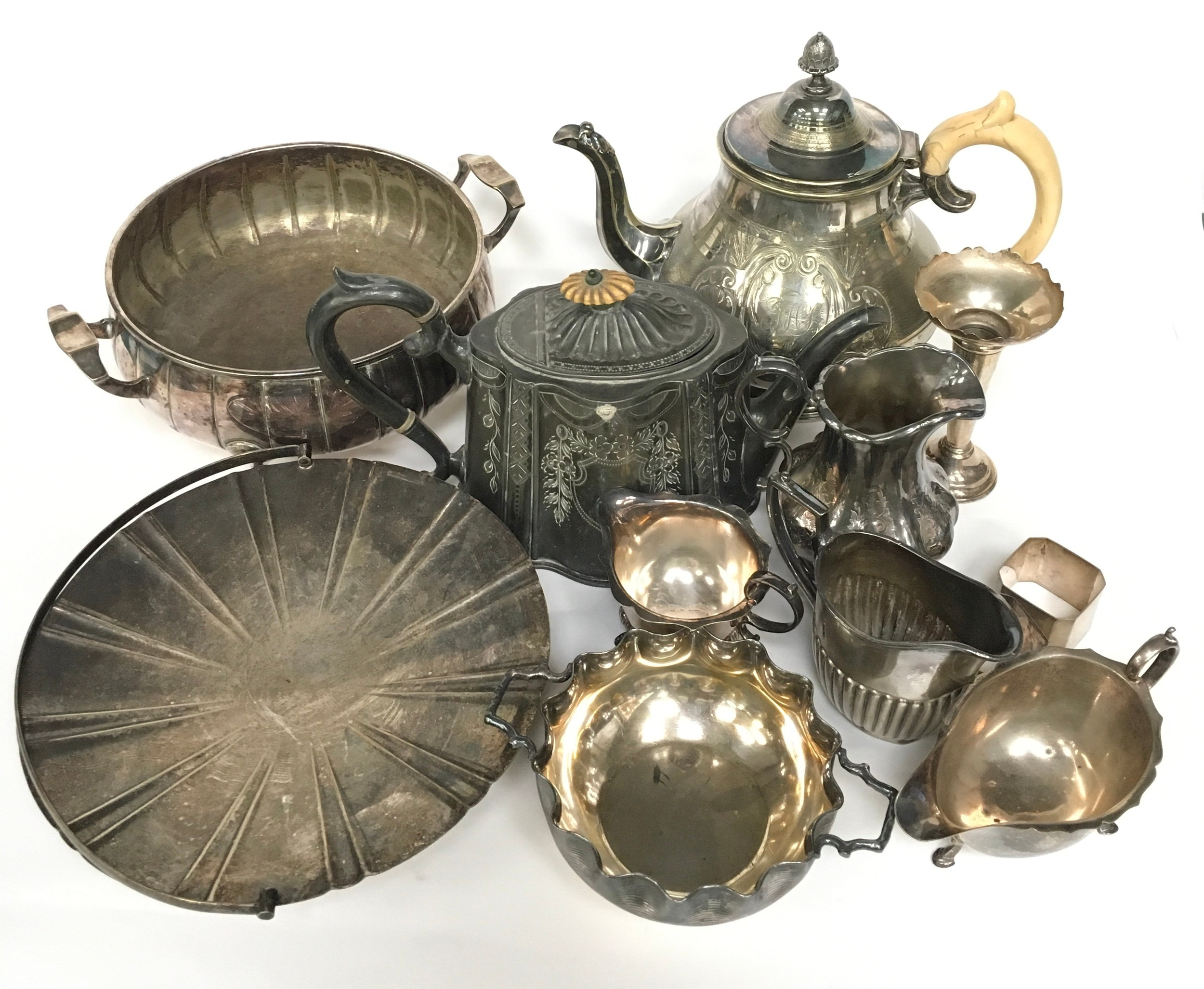 Large quantity of silver plated items