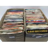 2 BOXES COTAINING SINGLE RECORDS FROM THE 60?s & 70?s. Many artists to include - Curved Air -
