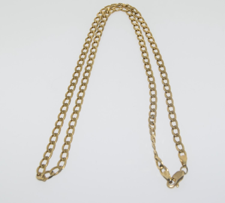9ct gold flatlink chain 52cm long 10gm - Image 4 of 5