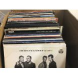 LARGE BOX OF 70?s & 80?s LP RECORDS. To include Elvis Costello - Eagles - Culture a club - Stevie