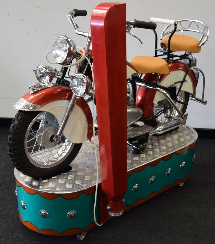 Lenaerts Indian Motorcycle Arcade Ride fully restored 1950 child's ride. Made by Edwin Hall & Co - Image 4 of 8