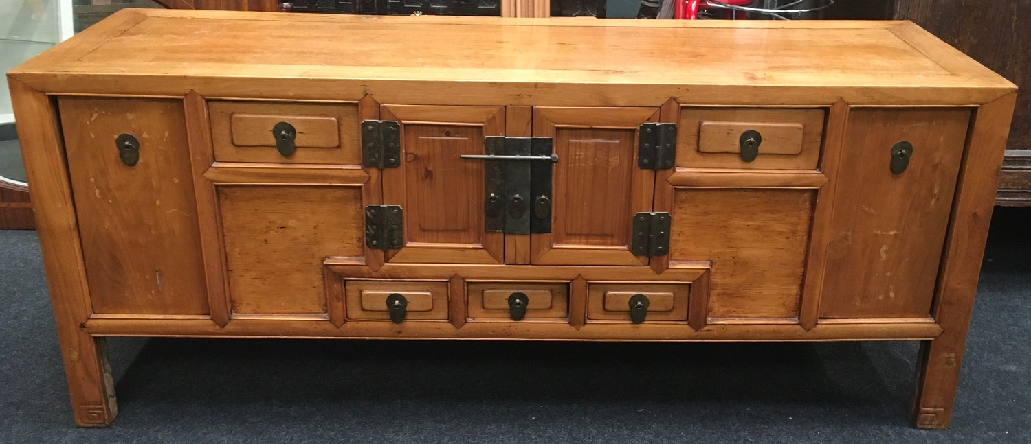 Chinese storage unit with compartments 141x58x44cm.