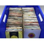 LARGE BOX OF MAINLY 70?s and 80?s HIT 45rpm RECORDS. To include picture sleeve and generic sleeved