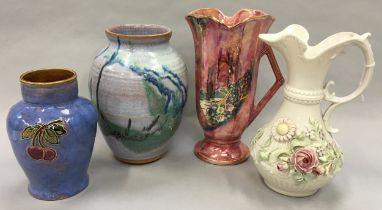 """Royal Doulton stamped """"8693"""" vase together with three others (4)."""
