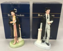 The Royal Doulton Figurine The Graduate HN3017 together with The Graduate HN3016, boxed