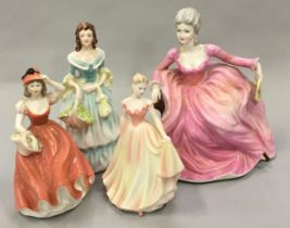 """Coalport porcelain lady figurines to include """"Ladies of Fashion - Polly"""", """"Rosalinda"""", """"True Love"""""""