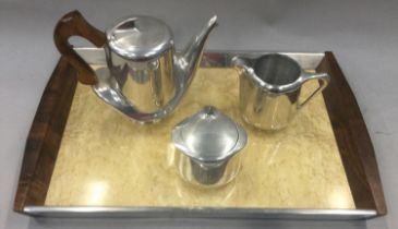 Picquot Ware teaset to include tray.