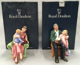 Royal Doulton figurine Grandpas Story HN3546 together with When I was Young HN3457, boxed