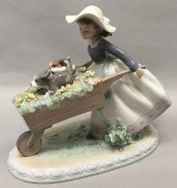 "Lladro ""5460"" A Barrow of Fun porcelain figure."