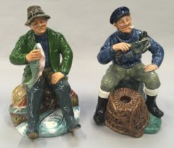 Royal Doulton Figurine The Good Catch, HN2258 1966-86 together with The Lobster Man HN2317