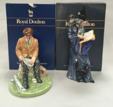 Royal Doulton figurine The Wizard HN2877 together with The Fisherman HN4511, Boxed