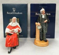 Royal Doulton Figurine The Lawyer HN3041 together with The Judge HN2443, boxed