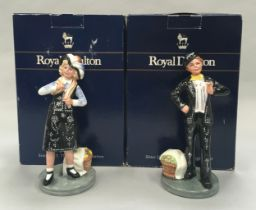 Royal Doulton Pearly Boy HN2767 together with Pearly Girl HN2769, Boxed