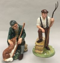 Royal Doulton Figurine The Master HN2325 1967-1992 together with The Farmer HN4487