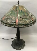 Tiffany style electric table lamp 70x40cm