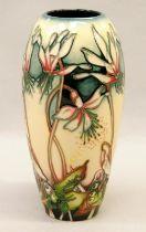 Moorcroft vase fully marked and signed to base 19cm tall