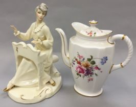 """Royal Doulton """"The Enchantment Collection - Musicale HN 2756"""" figurine together with a Royal Crown"""