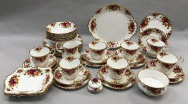 """Royal Albert """"Old Country Roses"""" seven place tea and sandwich set. 40 pieces in total. Unused and"""