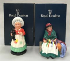 Royal Doulton Figurine Silks and Ribbons HN2017 together with Old Mother Hubbard DNR3, Boxed