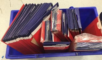 Large collection of new packs of sand paper abrasives for wood and metal.