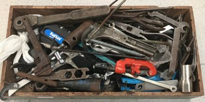 Various vintage tools to include spanner?s and pliers etc.