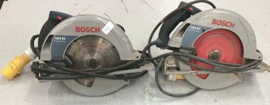 2 x Bosch GKS 85 Professional 110v circular saws.