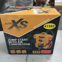 Jump Start Air Compressor Unit. (Boxed).