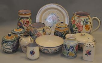 Poole Pottery quantity of traditional pieces (13) please examine