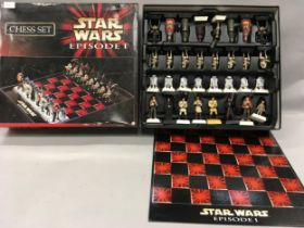 Star Wars Episode I chess set boxed.
