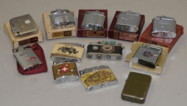 A box of vintage lighters to include a quantity of boxed Ronson examples