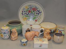 Poole Pottery quantity to include traditional pieces & three bears (14)