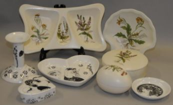 Poole Pottery quantity of pieces from The Beardsley Collection together with four pieces of