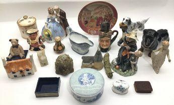 A box of various china.