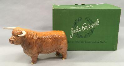 Beswick highland bull boxed.
