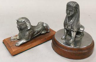 Pair Armstrong Siddeley car Mascots