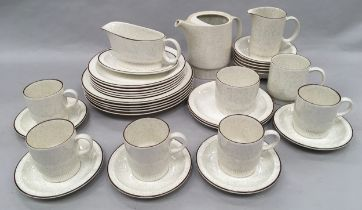 """Poole Pottery """"Parkstone"""" collection of dinnerware."""