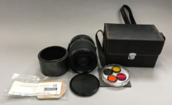 Sigma Macro 1:3 mirror telephoto lens with filters and carry case