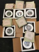 """Royal Worcester set of six """"King Arthur"""" plates all boxed with certificates."""