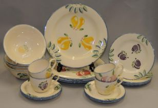 Poole Pottery boxed & brand new Dorset Fruits 20 piece dinner service, never been used.